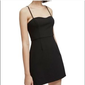 NEW French Connection Black Whisper A-Line Dress